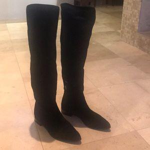 7b60e21a506 Prada Shoes - Prada black suede over the knee boots